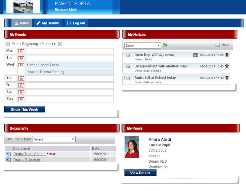 Double First Engage education management information system Parent Portal