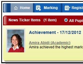school management information system pupil news ticker